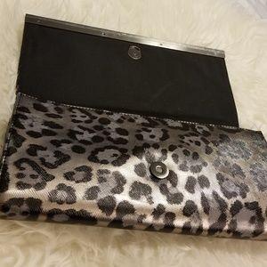 Banana Republic Bags - Banana Republic Cheetah Silver Bar Clutch  New